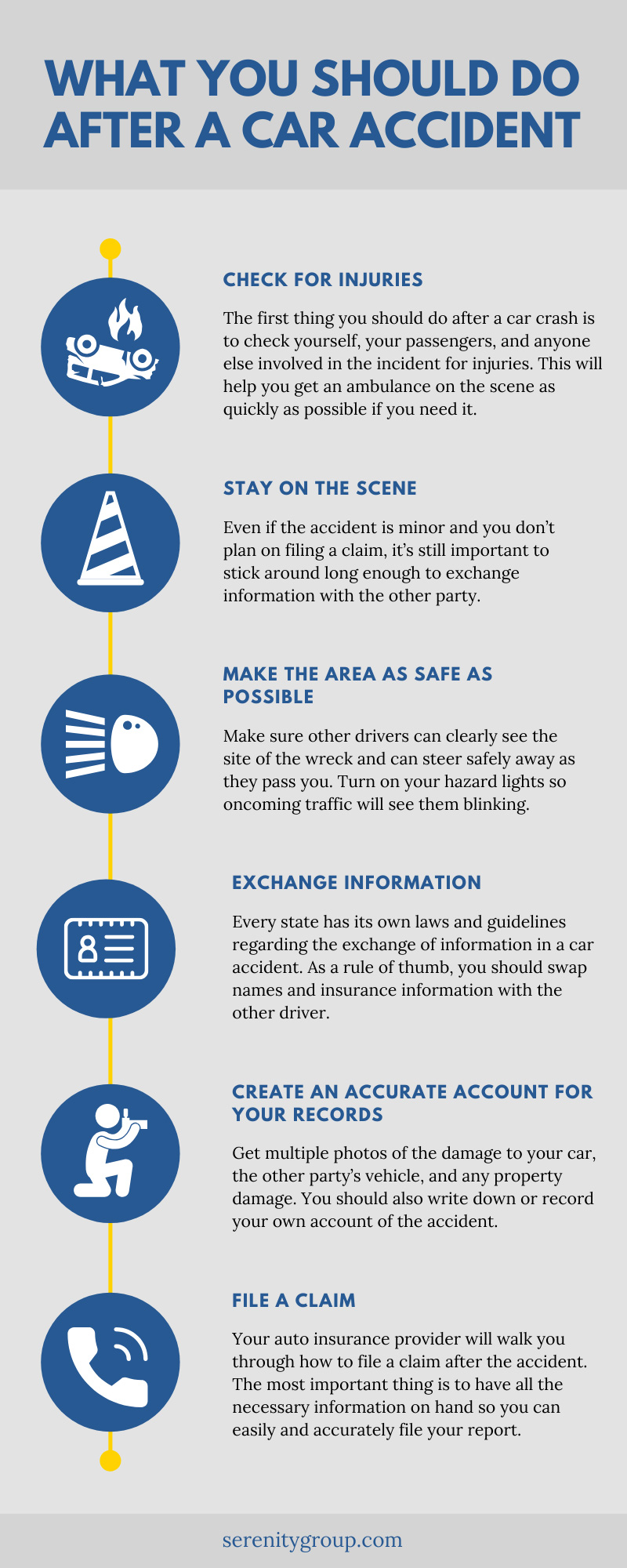 Car Accident Steps
